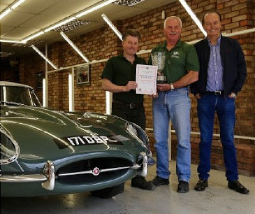 Steve Coogan's E-type Scoops Concours Award