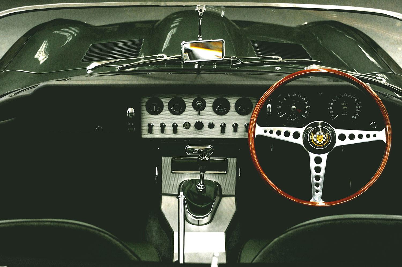 Steve Coogan's E-Type badge Cockpit