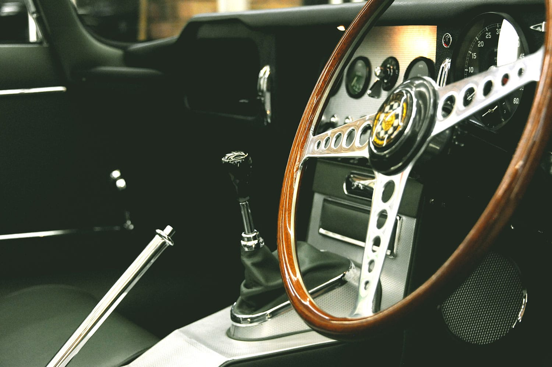 Steve Coogan's E-Type badge interior 2